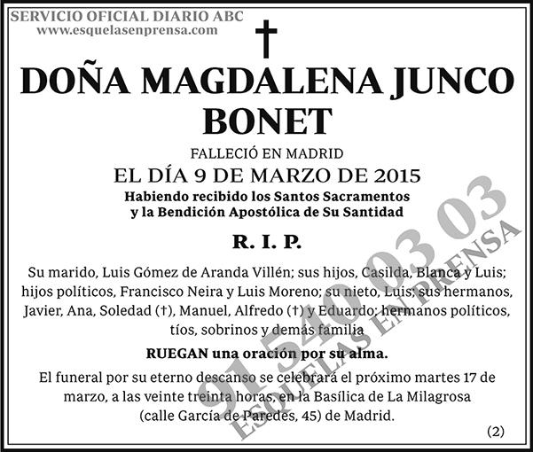 Magdalena Junco Bonet